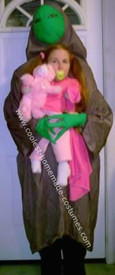 Little Girl being Abducted by Alien: I created this little girl being abducted by an alien Halloween costume to wear to work and also take my kids trick or treating in...
