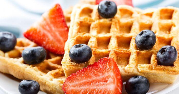 Waffles de manzana - EligeVeg.com