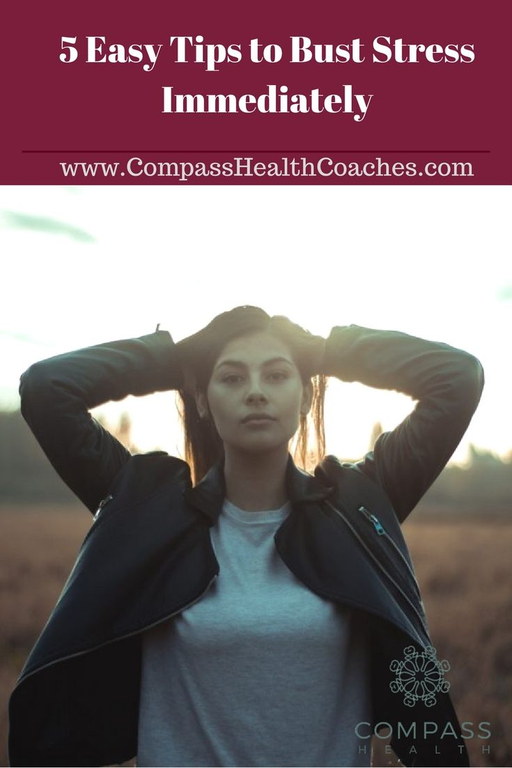 Tips to manage stress. Bust stress on the spot. Ways to stay stress free