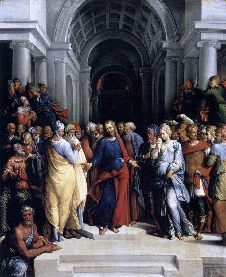 Garofalo Cristo y la adúltera Budapest - Jesús y la mujer sorprendida en adulterio -