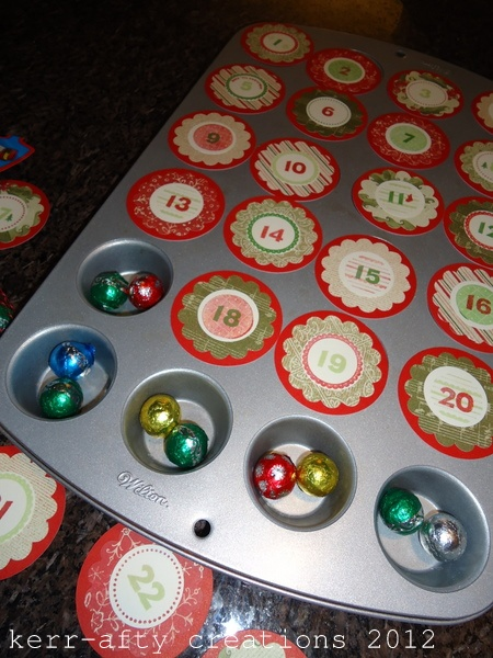 Diy Advent Calendar Muffin Tin : Muffin tin advent calendar diy pinterest