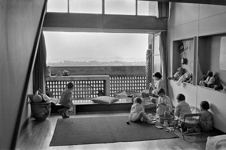 """Marseille. Le Corbusier's """"Unité d'habitation"""" (""""Living unit""""): the """"Cité radieuse"""" (1945-1952)."""