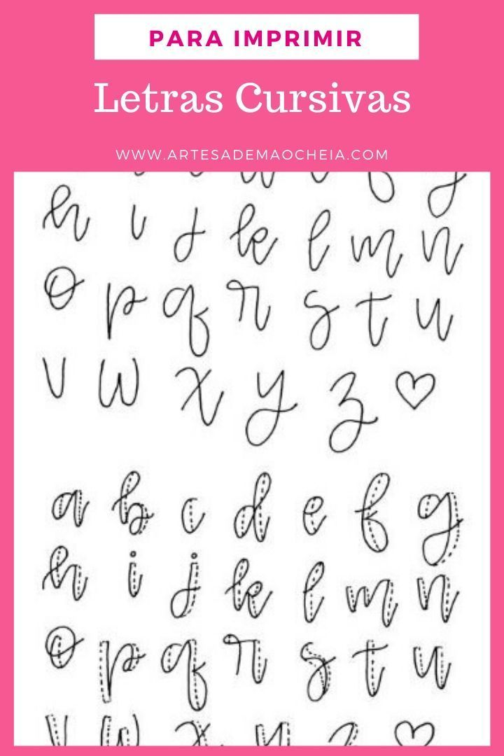 Letra Cursiva Para Imprimir Moldes Gratis Do Alfabeto Com