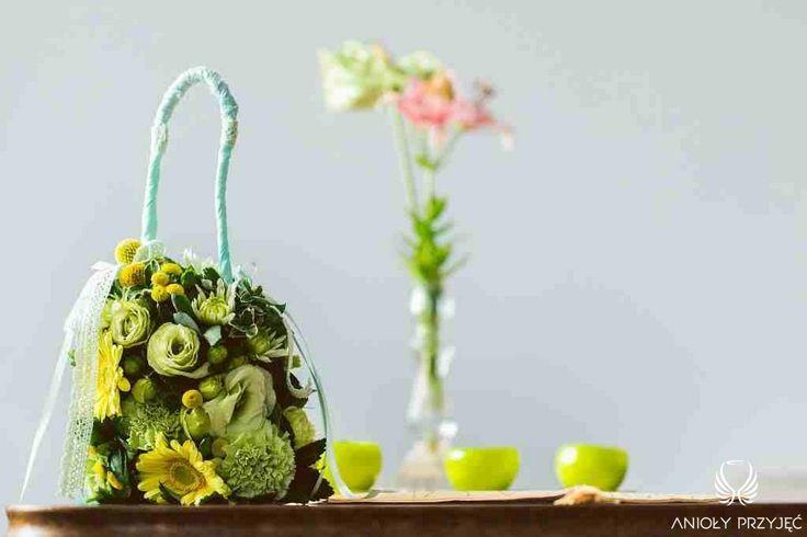 1. Green Wedding,Flower bag / Wesele w zieleni,Kwiatowa torebka,Anioły Przyjęć