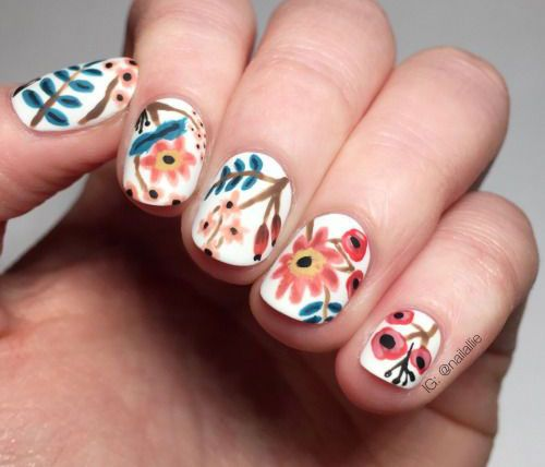 57 best spring nail art designs images on pinterest ideas make spring nail art designs prinsesfo Images