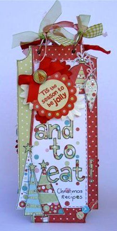 ** Christmas Recipe Book Mini Album @kaisercraft