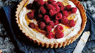 Creamy raspberry and orange tart | Tart recipes | SBS Food