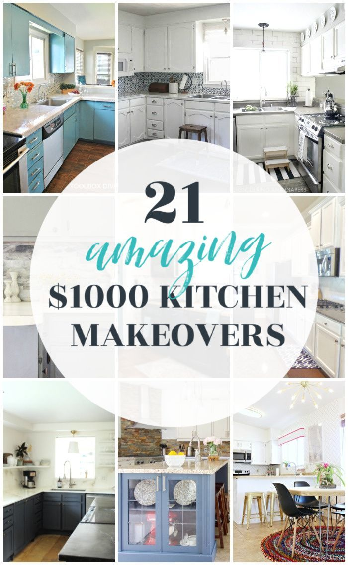21 Of Of The Best Budget Kitchen Makeovers Under 1000 In 2020