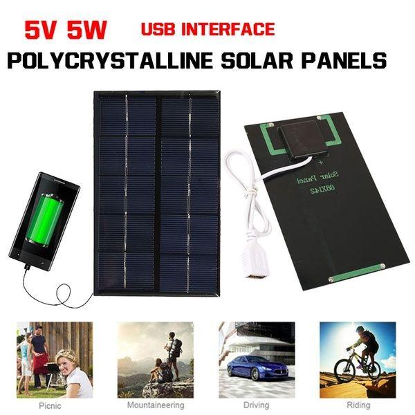 5w 5v Portable Usb Solar Panel Solar Generator Tablet Fast Charger Solar Charger Pane Solar Panel Charger Portable Solar Panels Solar