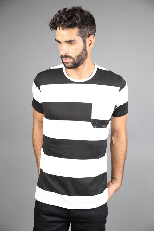 MARVIN TEE BLACK WHITE #Edwin #Tee #T-shirt #Black #White #Stripes #graduate #graduatestore #FW15 45€