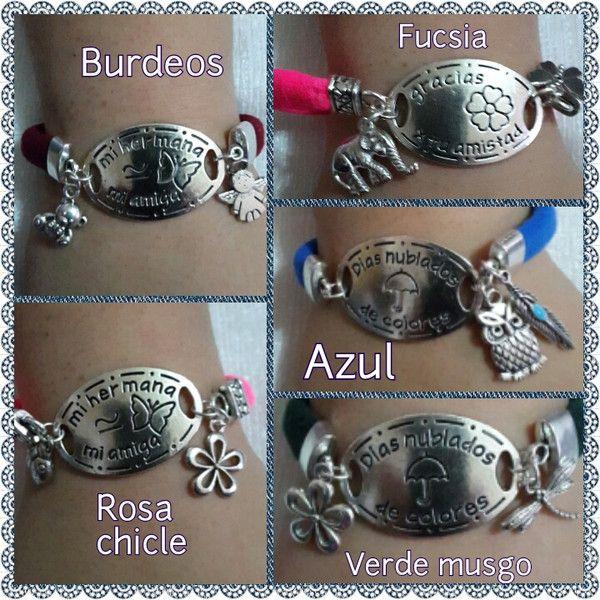 Pulseras con mensaje. de Tximeleta Artesanía por DaWanda.com