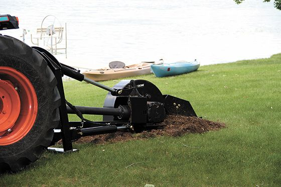 Compact Tractor 3-Point Stump Grinder - Erskine Attachments LLC