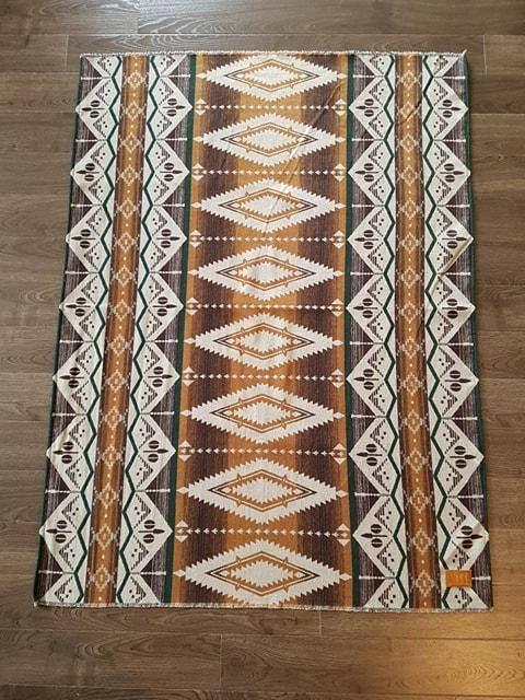 Navajo print woven throw blanket