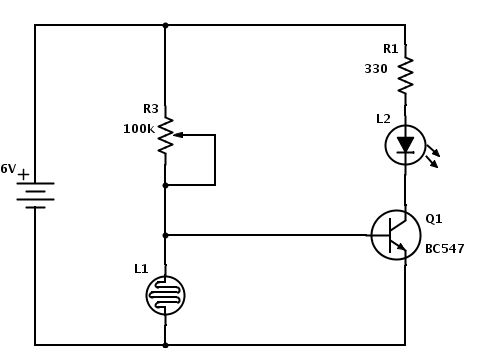 #LDRCircuit is a variable resistor whose value decreases