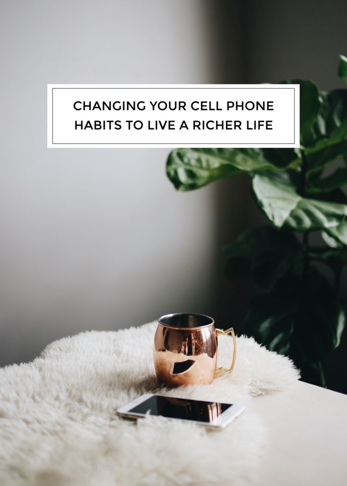 creating healthy cell phone habits.