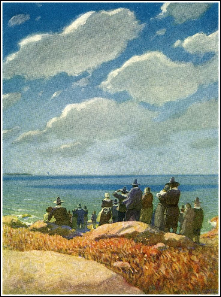 "NC Wyeth illustration from ""The Courtship of Miles Standish,"" by Henry Wadsworth Longfellow"" (1920)"