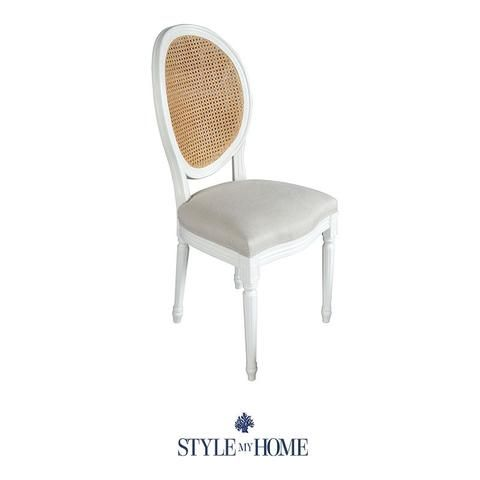 CHARLOTTE Linen & Natural Oak Dining Chair Sydney Australia Style My Home Hamptons Country