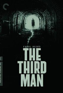 THE THIRD MAN (1949)  dir: carol reed  Pulp novelist Holly Martins travels to shadowy, postwar Vienna, only to find himself investigating the mysterious death of an old friend, black-market opportunist Harry Lime.