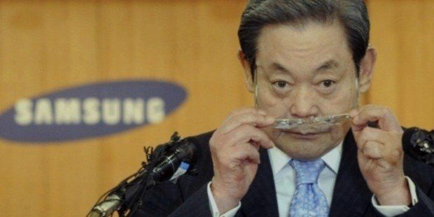 """By far the Richest Man in South Korea, Lee Kun-Hee serves as the chairman of the huge electronics empire, the Samsung Group. Lee's father, Lee Byung-Chul, set up Samsung in 1938. In Korean, Samsung means """"three stars.""""Back then, the firm used to export vegetables, fruit, and dried fish to Manchuria and Beijing."""