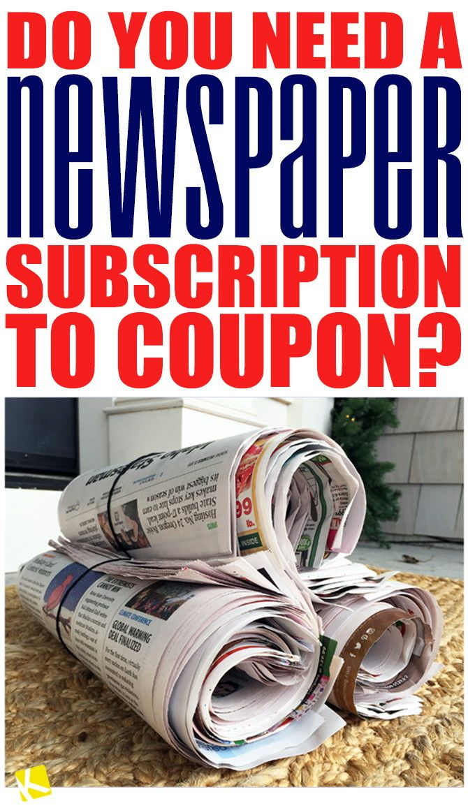 You're just starting to use coupons and hear talk of collecting newspaper inserts and getting a subscription — but do you really need a newspaper...