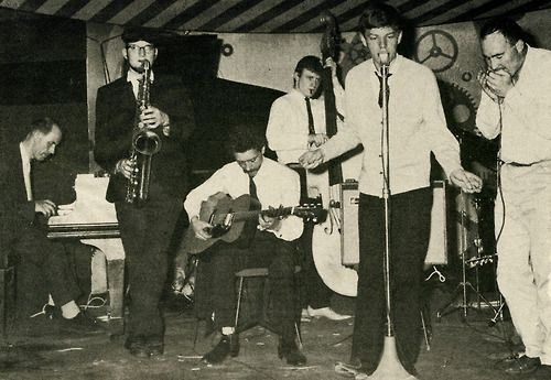Mick Jagger in 1961 during his six-month stint as lead singer of Alexis Korner's Blues Incorporated.