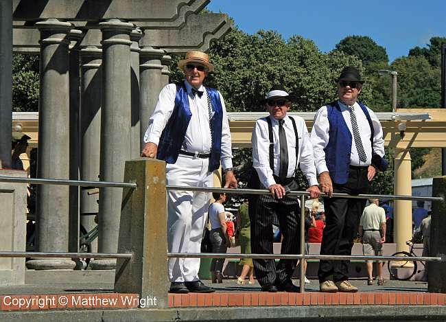 I don't know who these guys were, but they looked the part at Art Deco Weekend, Napier, New Zealand, 2014.