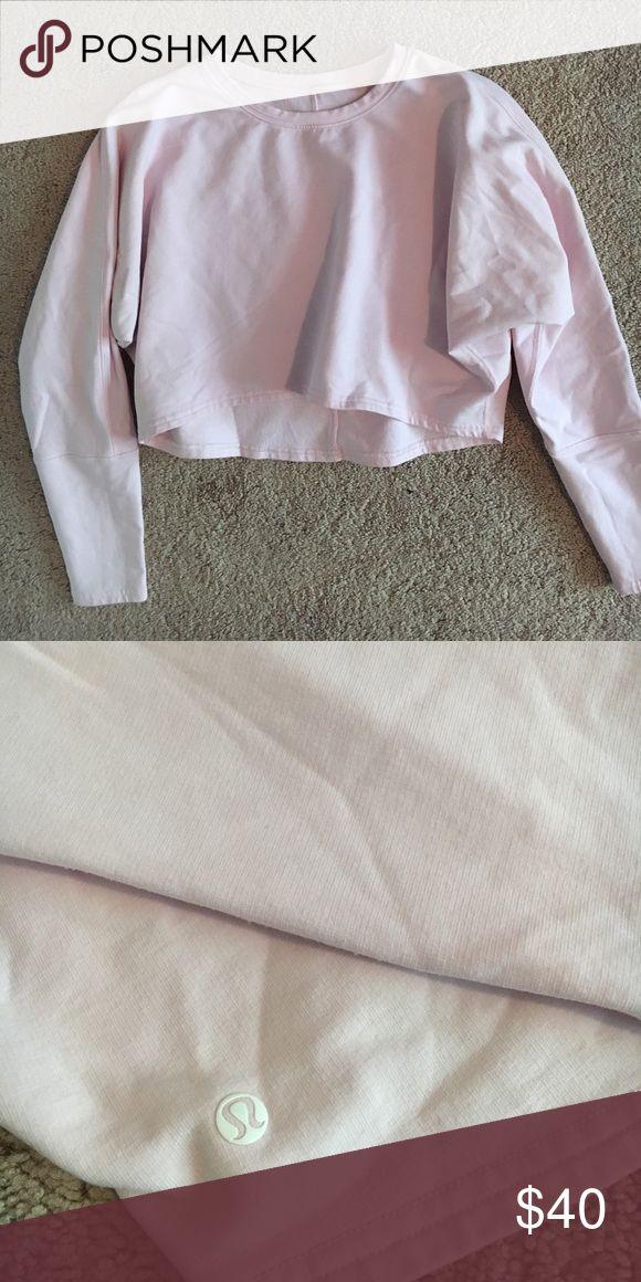DISCOUNTED Lululemon sweatshirt Pink Lululemon sweatshirt size 4. Super comfy and cute! Worn only a couple of times. Cropped fit. lululemon athletica Tops Sweatshirts & Hoodies