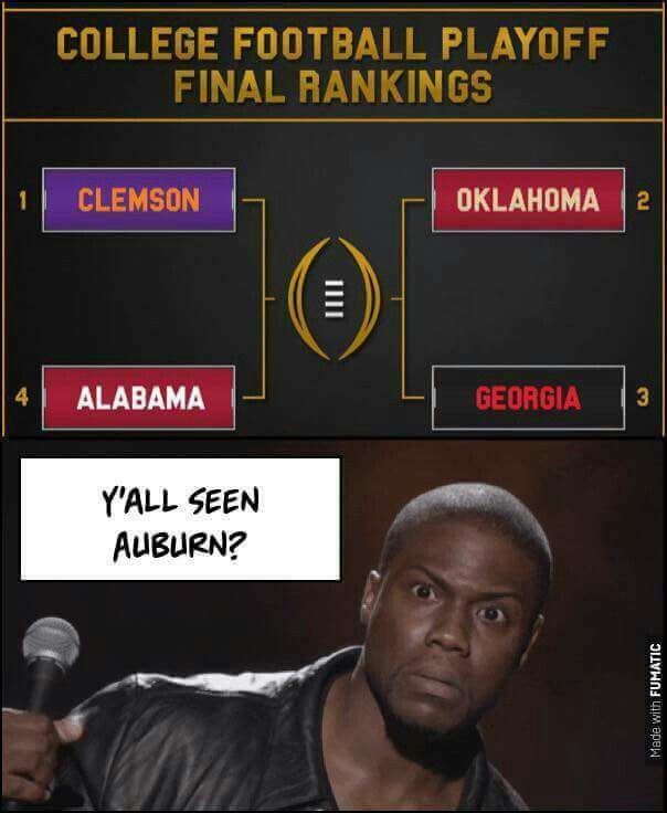 Alabama Football 2017 playoff brackets