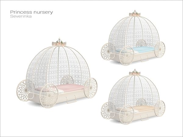 Princess Nursery-Chariot Bed (3 Swatches) - created by Severinka_