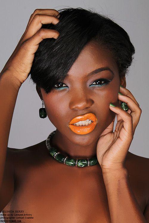 yellow lipstick on dark skin - photo #6