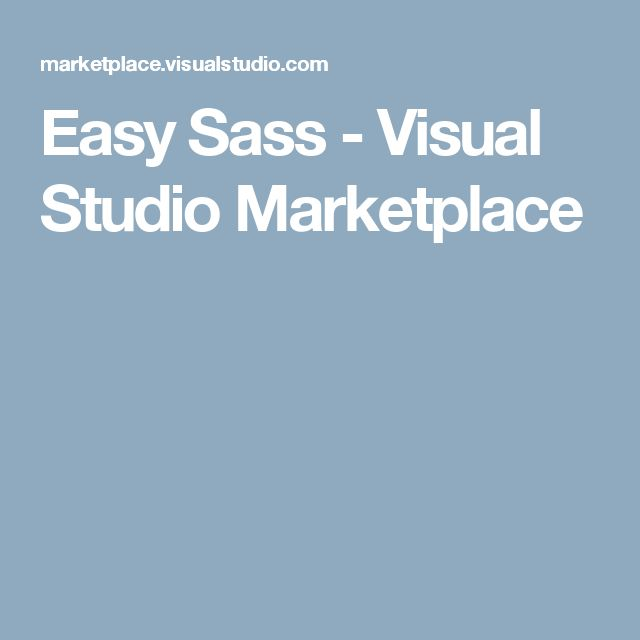 Easy Sass - Visual Studio Marketplace