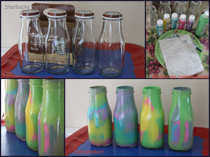 17 best images about empty starbucks bottles on pinterest for How to decorate empty glass jars