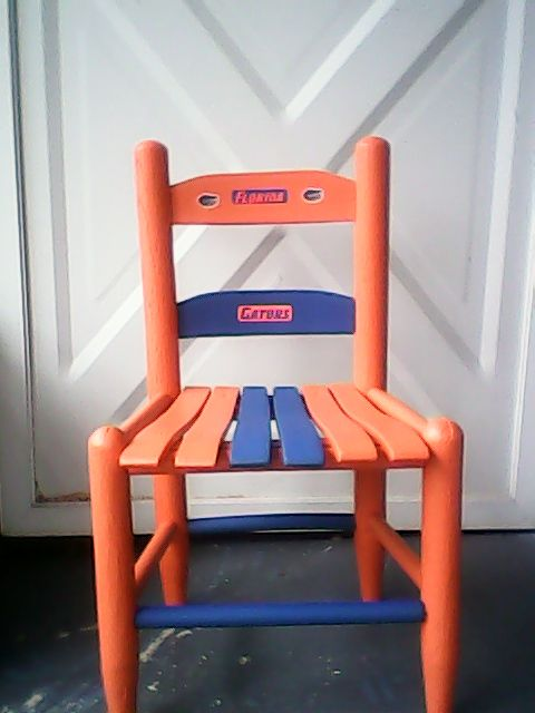 Childs Florida Gator Chair/ Diy