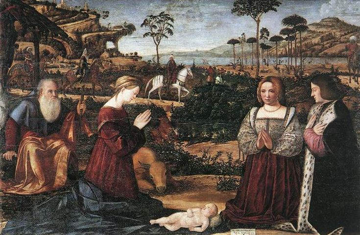 1505 Holy Family with Two Donors - Vittore Carpaccio