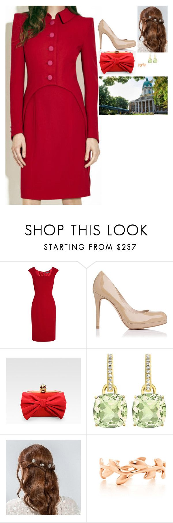 """Visiting the Imperial War Museum in London in honour of their 100th anniversary"" by fashion-royalty ❤ liked on Polyvore featuring Dolce&Gabbana, L.K.Bennett, Alexander McQueen and Paloma Picasso"