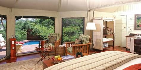 Komati Tented Camp This ultra luxury tented camp is found in South Africa's lowveld, which is home to a variety of game species, including the Big 5. Each spacious, private suite has its own plunge pool and overlooks the river.