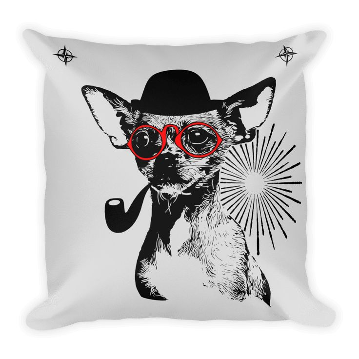 Chihuahua Gentleman - Decorative Pillow #madeinusa