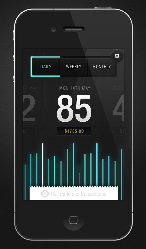 Envato Sales App by Saxon Fletcher #ui #ux #mobile