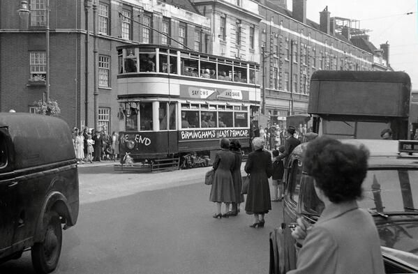 July 1953, the last tram