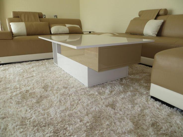 Stolik lakierowany z szufladą - Meble do salonu na wymiar, komody, meblościanki, stoły, ławy - Bielsko-Biała Q-art