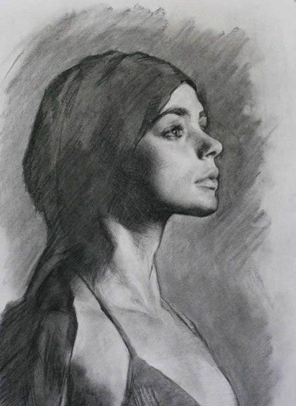 Ortrait Drawing Painter