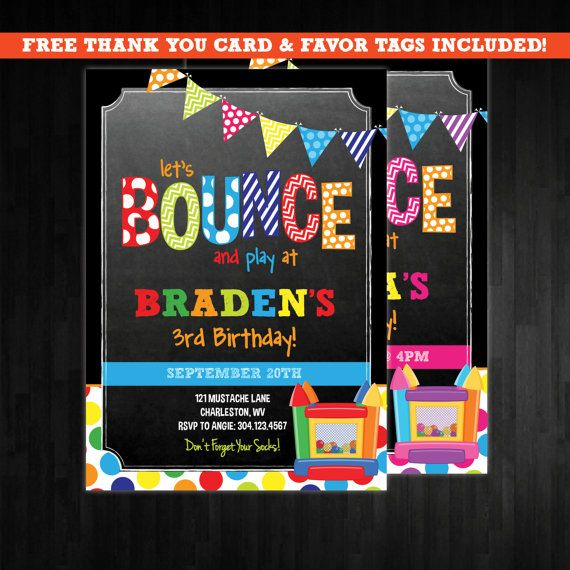 Best 25 Bounce house birthday ideas – Bounce Party Invitation