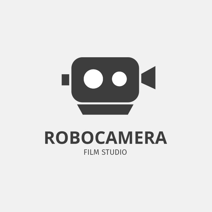 RoboCamera logo designed by combining a whimsical robot head with film equipment. | Graphic Design, Fun Robot Logo, Branding Design, Camera Equipment, Film Studio, Logo Design, Icon Design