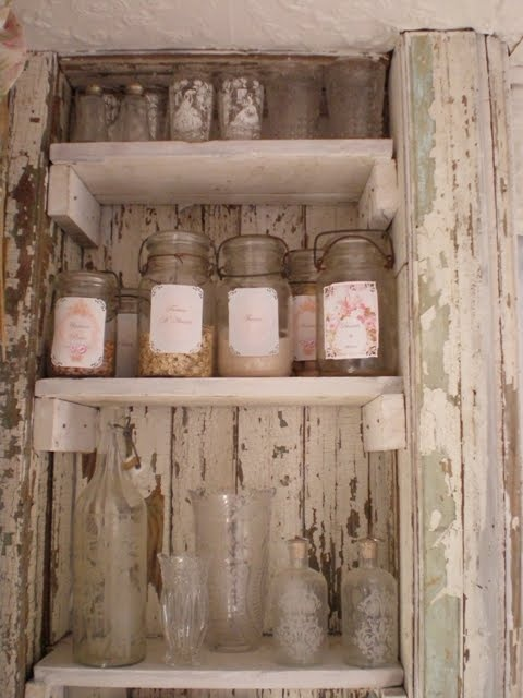 Chippy Shabby Pantry.. I would love a pantry like this