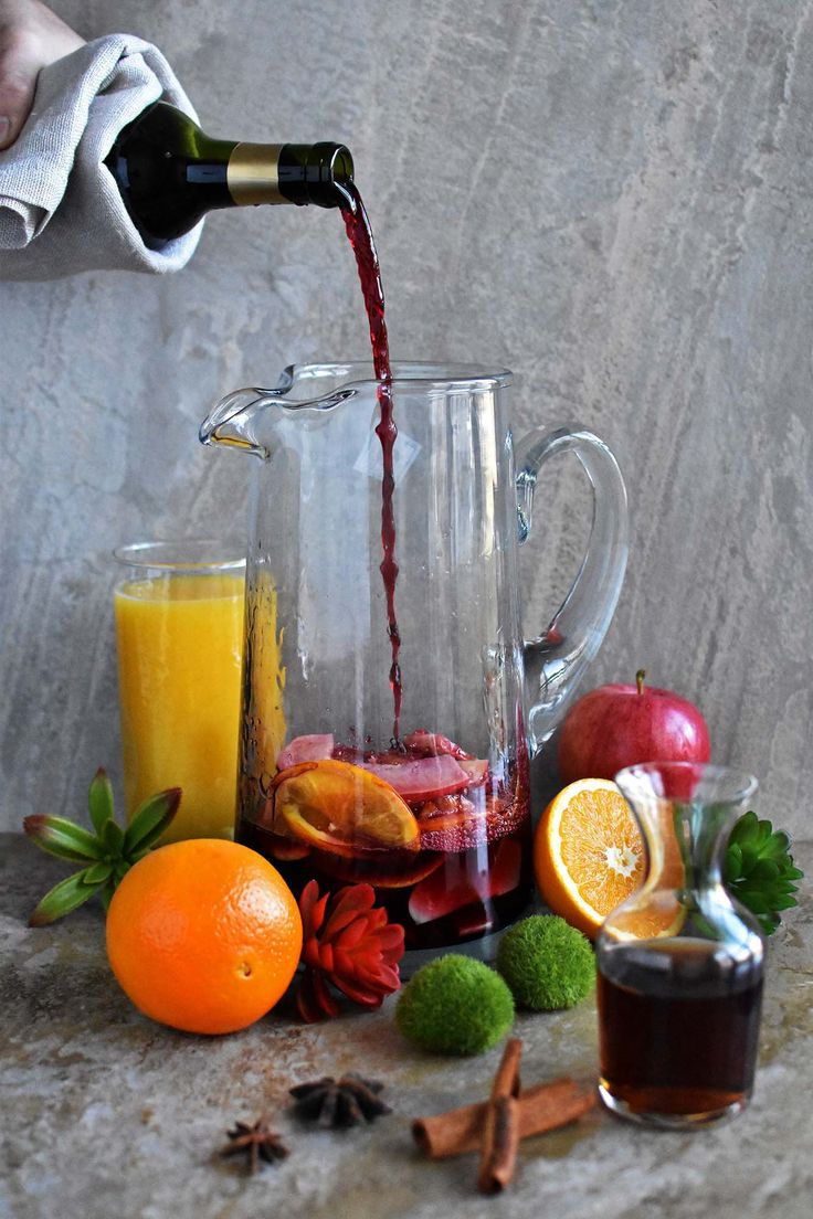 Spiced Traditional Red Sangria - Pepper Delight #pepperdelightblog #recipe #sangria #thanksgiving #newyear #winedrinks #nationalsangriaday #holidayrecipes #cocktail #christmas #traditionalsangria #drinks #festivals
