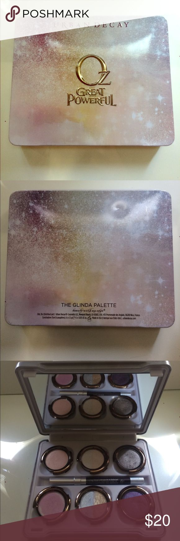 Urban Decay The Glinda Palette *Limited Edition* Lightly used in good condition comes with the -Rockstar eyeliner -Glinda gloss lip color Urban Decay Makeup Eyeshadow