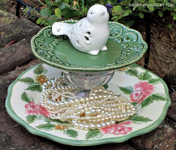 Jewelry / Soap / Dessert Pedestal Stand  by GardenWhimsiesByMary, $30.00