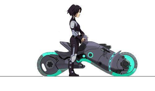 """kevinnelsonart: """" gogo on an early tech show bike """""""