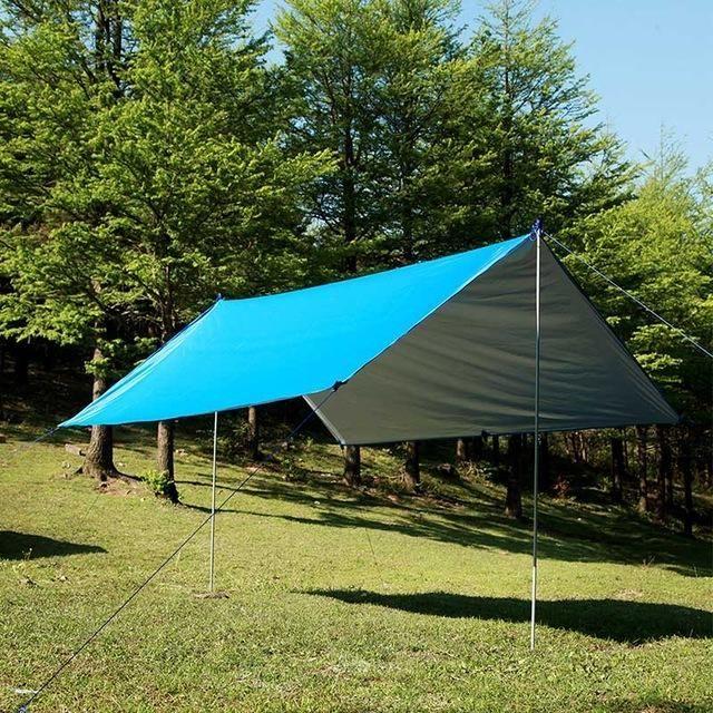3*3m 210T with silver coating Gear outdoor tarpUltralight Sun Shelter Camping Mat Beach Tent Pergola Awning Canopy Tarp Camping