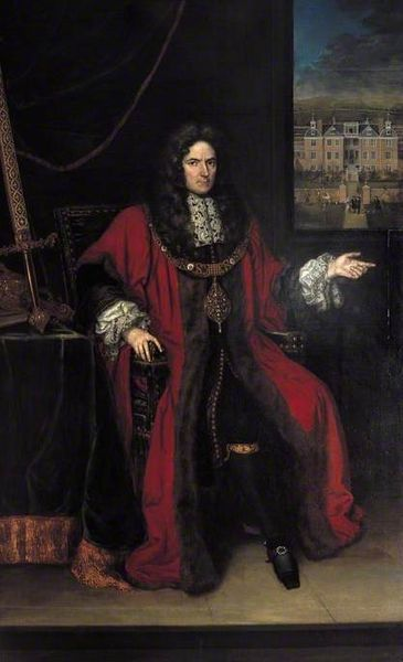 1664-1700.Sir Robert Clayton(1629- 1707) Lorenzo A. Castro (f 1664-1700) oil on canvas.232×142cm.Bank of England. British merchant banker,politician and Lord Mayor of London, was a member of the Scriveners and Drapers Company ,an Alderman of Cheap Ward in the City of London (1670-1683),a Sheriff in 1671,Lord Mayor of London (1679- 1680),a member of parliament for the City of London or Bletchingley for most of the years 1679 to 1707,Colonel of the Orange Regiment of militia (various…